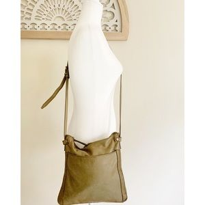 American Leather Co. crossbody shoulder green bag